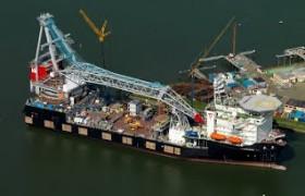 Railingwerk voor superkraanschip