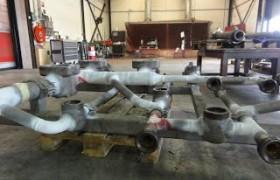 Stalen manifold gerepareerd