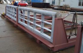 Platforms for new dredger