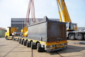 Transportframe contragewichten 450t kraan