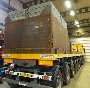 Transportframe contragewichten 300t Liebherr LTM 1300 kraan